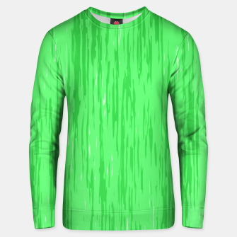 Miniatur Fresh neon green fibers, abstract rainfall, natural colors, forest theme Unisex sweater, Live Heroes