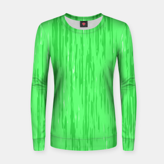 Miniatur Fresh neon green fibers, abstract rainfall, natural colors, forest theme Women sweater, Live Heroes