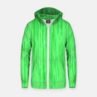 Miniatur Fresh neon green fibers, abstract rainfall, natural colors, forest theme Zip up hoodie, Live Heroes