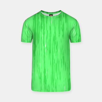 Miniatur Fresh neon green fibers, abstract rainfall, natural colors, forest theme T-shirt, Live Heroes
