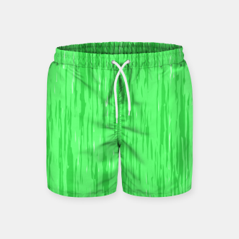 Miniatur Fresh neon green fibers, abstract rainfall, natural colors, forest theme Swim Shorts, Live Heroes