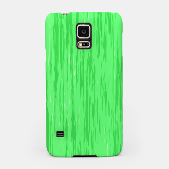 Miniatur Fresh neon green fibers, abstract rainfall, natural colors, forest theme Samsung Case, Live Heroes