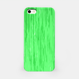 Miniatur Fresh neon green fibers, abstract rainfall, natural colors, forest theme iPhone Case, Live Heroes