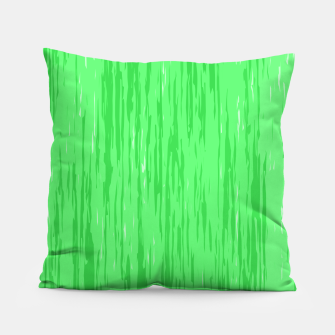 Miniatur Fresh neon green fibers, abstract rainfall, natural colors, forest theme Pillow, Live Heroes