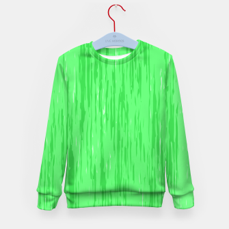 Miniatur Fresh neon green fibers, abstract rainfall, natural colors, forest theme Kid's sweater, Live Heroes
