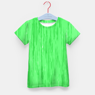 Miniatur Fresh neon green fibers, abstract rainfall, natural colors, forest theme Kid's t-shirt, Live Heroes