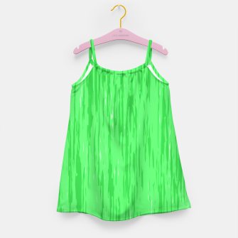 Miniatur Fresh neon green fibers, abstract rainfall, natural colors, forest theme Girl's dress, Live Heroes