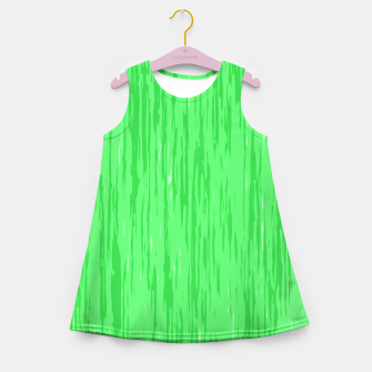 Miniatur Fresh neon green fibers, abstract rainfall, natural colors, forest theme Girl's summer dress, Live Heroes
