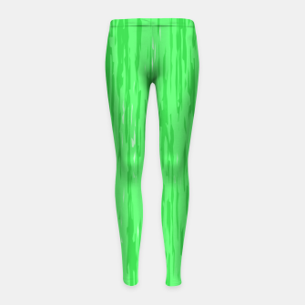 Miniatur Fresh neon green fibers, abstract rainfall, natural colors, forest theme Girl's leggings, Live Heroes
