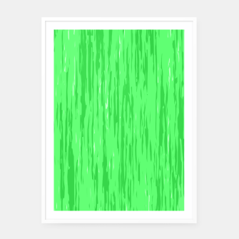 Miniatur Fresh neon green fibers, abstract rainfall, natural colors, forest theme Framed poster, Live Heroes