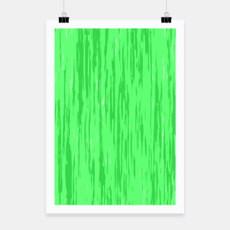 Miniatur Fresh neon green fibers, abstract rainfall, natural colors, forest theme Poster, Live Heroes