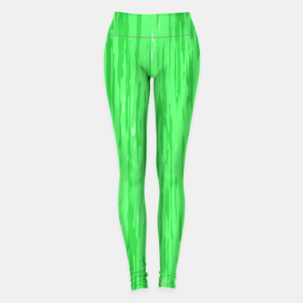 Miniatur Fresh neon green fibers, abstract rainfall, natural colors, forest theme Leggings, Live Heroes