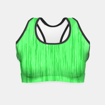 Thumbnail image of Fresh neon green fibers, abstract rainfall, natural colors, forest theme Crop Top, Live Heroes