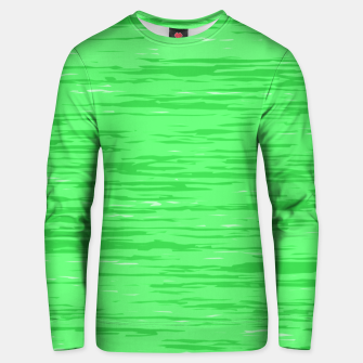 Thumbnail image of Fresh neon green fibers, abstract rainfall, natural colors, forest theme Unisex sweater, Live Heroes
