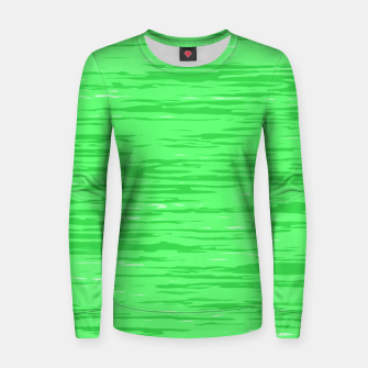 Thumbnail image of Fresh neon green fibers, abstract rainfall, natural colors, forest theme Women sweater, Live Heroes