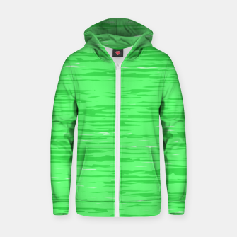 Thumbnail image of Fresh neon green fibers, abstract rainfall, natural colors, forest theme Zip up hoodie, Live Heroes