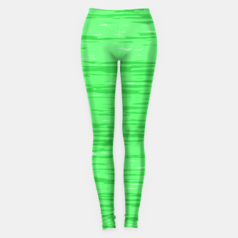 Thumbnail image of Fresh neon green fibers, abstract rainfall, natural colors, forest theme Leggings, Live Heroes