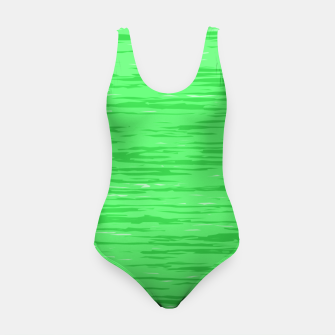 Thumbnail image of Fresh neon green fibers, abstract rainfall, natural colors, forest theme Swimsuit, Live Heroes
