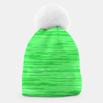 Thumbnail image of Fresh neon green fibers, abstract rainfall, natural colors, forest theme Beanie, Live Heroes