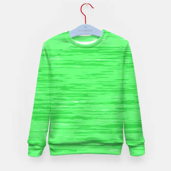 Thumbnail image of Fresh neon green fibers, abstract rainfall, natural colors, forest theme Kid's sweater, Live Heroes