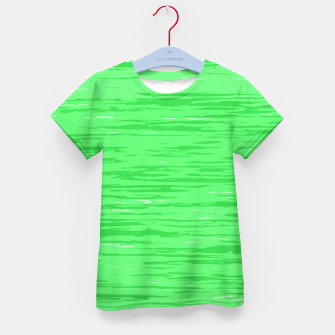 Thumbnail image of Fresh neon green fibers, abstract rainfall, natural colors, forest theme Kid's t-shirt, Live Heroes