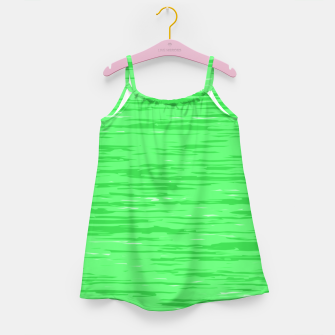 Thumbnail image of Fresh neon green fibers, abstract rainfall, natural colors, forest theme Girl's dress, Live Heroes