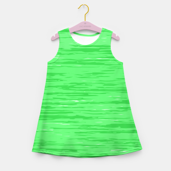Thumbnail image of Fresh neon green fibers, abstract rainfall, natural colors, forest theme Girl's summer dress, Live Heroes