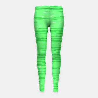 Thumbnail image of Fresh neon green fibers, abstract rainfall, natural colors, forest theme Girl's leggings, Live Heroes