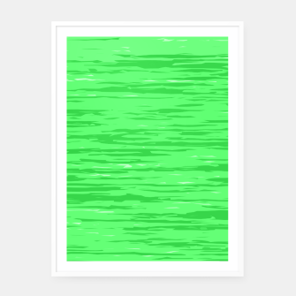 Thumbnail image of Fresh neon green fibers, abstract rainfall, natural colors, forest theme Framed poster, Live Heroes