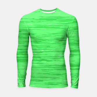 Thumbnail image of Fresh neon green fibers, abstract rainfall, natural colors, forest theme Longsleeve rashguard , Live Heroes