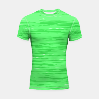 Thumbnail image of Fresh neon green fibers, abstract rainfall, natural colors, forest theme Shortsleeve rashguard, Live Heroes