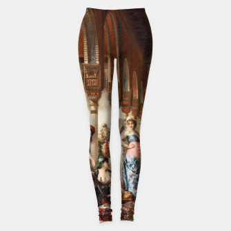 Thumbnail image of The Silk Market by Edouard Frederic Wilhelm Richter Leggings, Live Heroes