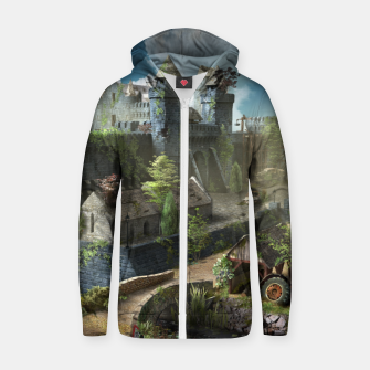 Thumbnail image of Abandoned fortress Zip up hoodie, Live Heroes