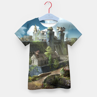 Thumbnail image of Abandoned fortress Kid's t-shirt, Live Heroes