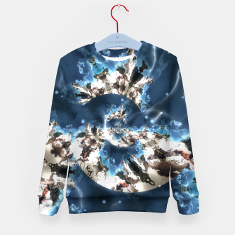 Thumbnail image of Spiral storm digital art Kid's sweater, Live Heroes