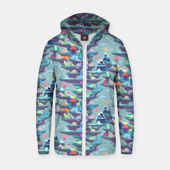 Thumbnail image of Peaceful Time in Fantastic Dino Land Zip up hoodie, Live Heroes