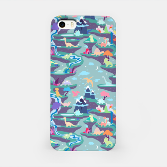 Miniatur Peaceful Time in Fantastic Dino Land iPhone Case, Live Heroes