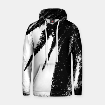 Thumbnail image of Black and White Tropical Moonscape Illustration Hoodie, Live Heroes