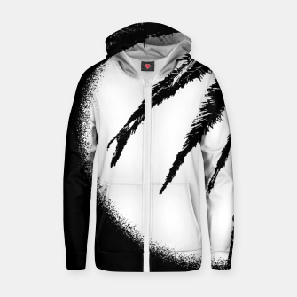 Thumbnail image of Black and White Tropical Moonscape Illustration Zip up hoodie, Live Heroes