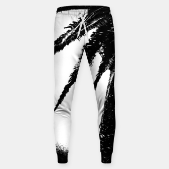 Thumbnail image of Black and White Tropical Moonscape Illustration Sweatpants, Live Heroes