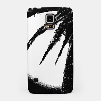 Thumbnail image of Black and White Tropical Moonscape Illustration Samsung Case, Live Heroes