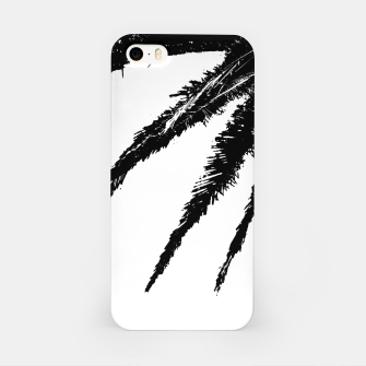Thumbnail image of Black and White Tropical Moonscape Illustration iPhone Case, Live Heroes