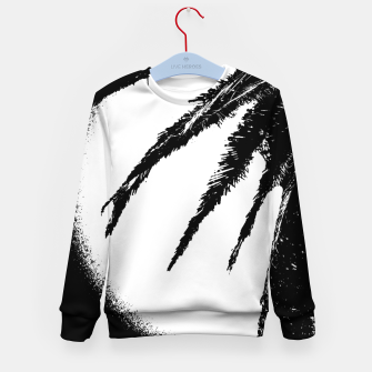 Thumbnail image of Black and White Tropical Moonscape Illustration Kid's sweater, Live Heroes