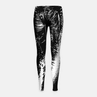 Thumbnail image of Black and White Tropical Moonscape Illustration Girl's leggings, Live Heroes