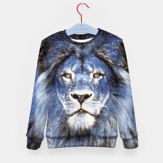 Thumbnail image of Majestic Sparkle Lion Kid's sweater, Live Heroes