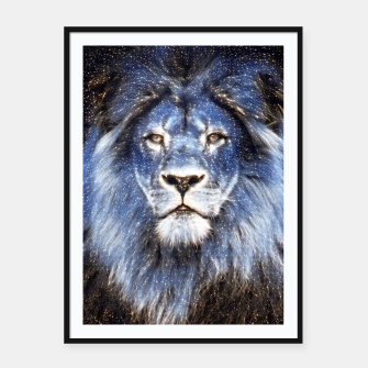 Thumbnail image of Majestic Sparkle Lion Framed poster, Live Heroes