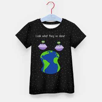 Thumbnail image of Look! Kid's t-shirt, Live Heroes