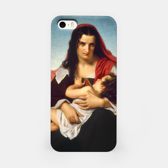 Thumbnail image of The Scarlet Letter by Hugues Merle Old Masters Reproduction iPhone Case, Live Heroes