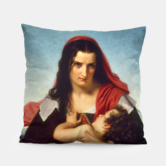 Thumbnail image of The Scarlet Letter by Hugues Merle Old Masters Reproduction Pillow, Live Heroes