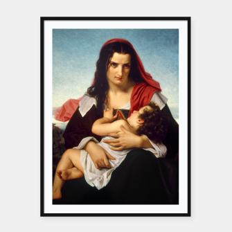 Thumbnail image of The Scarlet Letter by Hugues Merle Old Masters Reproduction Framed poster, Live Heroes